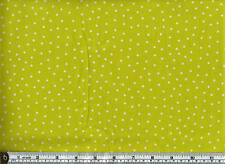 Stof - FREE AS A BIRD - Dots on Lt Lime Green - MS-10-64 - 100% Cotton