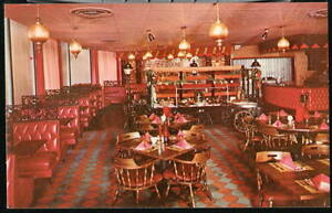 ARLINGTON VA Cinders Steak House Restaurant Vtg Postcard Old Crystal City PC