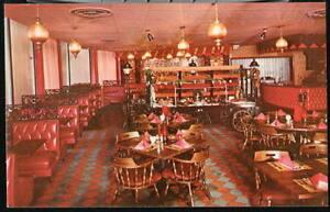 ARLINGTON VA Cinders Steak House Restaurant Vtg Postcard Old Crystal City PC
