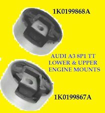 AUDI A3 8P1 TT 03- REAR LOWER & UPPER ENGINE MOUNTS MOUNTING O.E BRAND 2003 ON