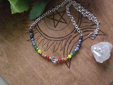 Chakra Rainbow Mixed Jade Stone Necklace