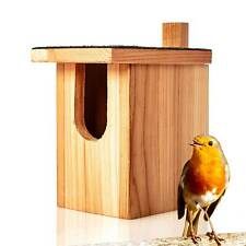 Nistkasten Brutkasten Vogelhaus Massiv-Holz Vogelnest Nisthilfe