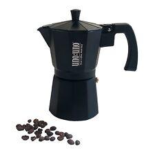 UnoUno Stove Top 6 Cup Coffee Maker & Espresso - Black (NEW)