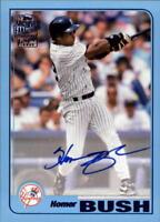 2018 Topps Archives Fan Favorites Autograph Blue Homer Bush AUTO 24/25 Yankees
