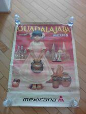 Vintage Original Mexicana Guadalajara Amendolla Poster