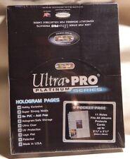 25 Ultra Pro Platinum 9 Pocket Pages Pokemon Magic Yu-Gi-Oh Match Force Attax