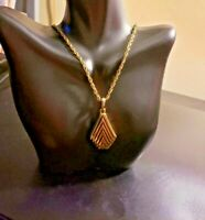 "Women's Gold Plated Pendant Necklace 24"" Rope Chain Women's Jewelry"