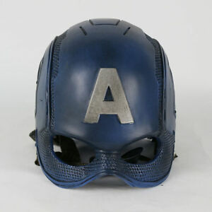 Captain America Helmet Steve Rogers Helmet Cosplay Superhero  Mask Prop Hard PVC