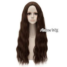 65CM Dark Brown Anime The Avengers 2 Scarlet Witch Manga Halloween Cosplay Wig