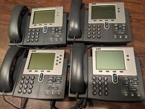 Cisco LOT of 4 IP Phones: 2x 7940s, 1x 7942 & 1x 7960