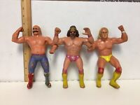 Vintage 1980s WWF WWE Wrestling Figures LJN Titan Sports Rubber Wrestler Toy Lot