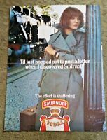 "1970's SMIRNOFF VODKA POSTER ADVERTISEMENT ""Post a letter"" 16.25"" x 22.25"" #22"
