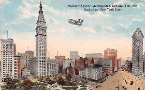 New York City Madison Square Metropolitan Life and Flat Iron ngl 165.420