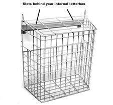 Letter Box Cage For UPVC Doors Door Mail Post Box Guard - No Screws Required