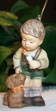 Berta Hummel Goebel Figurine Ornament Christmas Treat for Puppy Bh107 Bh 107