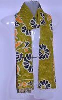 Indian Cotton Kantha Women Scarf Neck Wrap Vintage Shawl Sari Stole Fashion Boho