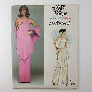 Vogue Pattern 1390 UNCUT Designer Leo Narducci Misses' Evening Tunic Pants Sz 12