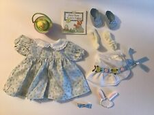 New ListingAmerican Girl Pleasant Company Bitty Baby Easter Set Bunny Blue Dress Bonnet