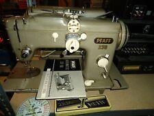 Robuste Nähmaschine PFAFF 230 mit el. Motor,läuft,näht Leder,Planen usw.