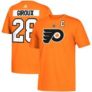 NHL T-Shirt Philadelphia Flyers Claude Giroux 28 Orange Ice Hockey T-Shirt
