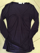 ladies XS NEW YORK & COMPANY ny&co PURPLE V-NECK 3/4 sleeve STRETCHY worn once!