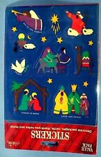 VINTAGE 1994 GIBSON CHRISTMAS NATIVITY SCENE 54 STICKERS 6 SHEETS SEALED