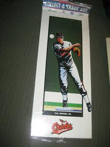 CAL RIPKEN JR. 1993 PLAYMAKERS COLLECT & TRADE ART BALTIMORE ORIOLES PRINT NEW
