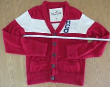 HOLLISTER CARDIGAN JUMPER RABBIT HAIR  BLEND ORIGINAL PREMIUM RED size M