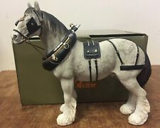 Large Grey Shire Horse Statue by Leonardo Grey Shire Horse Ornament Figurine
