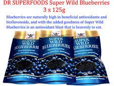 3 x 125g DR SUPERFOODS Dried Super Wild Blueberries * Nutritious & Antioxidants