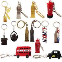 London Key Tags GB Mini Icons Metal Rings Brelock Gift Souvenir Travel England