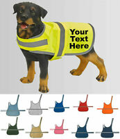 Personalised High Vis Dog Coat, Custom Printed Hi Viz Reflective Pet Safety Vest