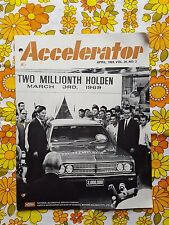 ACCELERATOR April 1969 Vol.26 No.3 GMH NASCO Parts division Holden magazine HK