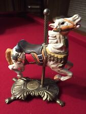 Limited Edition Tobin Fraley Porcelain Carousel Horse on Brass Base original box