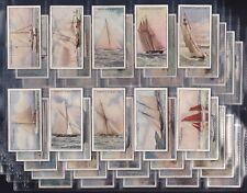 "OGDENS, YACHTS & MOTOR BOATS, ORIGINAL SET OF 50 ISSUED IN 1930 ""VG/EXC"""