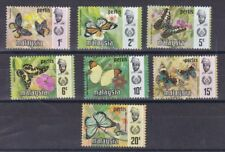 Malaysia Perlis 1971 serie corrente Farfalle 46-52 MHN