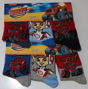 6 x Pairs of BLAZE & THE MONSTER MACHINES Socks  U.K. Shoe Sizes 6-2.5 (1-8 Yrs)