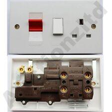 2x GET 45A DP DE POLO DOBLE Estufa Control Rojo Unidad De Interruptor 13A
