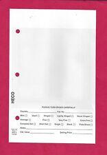 """50 Uni-Safe #1 Dealer Sales Cards White Background Fit 7"""" x 9"""" 3-ring Binder"""
