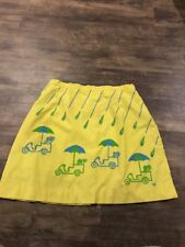 Women's Vested Gentress Vintage Skirt 18 Vtg Yellow Golf Cart Rain Blue Green