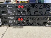 Crown XLI800 Stereo 300-Watt Power Amplifier With Speaker Cables and Case