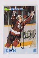 93/94 Classic Draft Hockey Jason Dawe Peterborough Petes Autographed Card