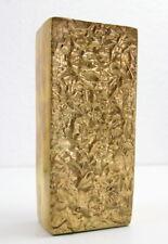 Mid Century Messing Vase Modernist Design, Brutalist, massiv 1,6 kg