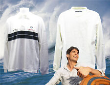 Vintage Henri Lloyd BMW ORACLE Americas Cup Sailing Giles Rugby Shirt White S