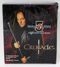 Babylon 5 CCG Crusade Edition Booster Box 24 Packs 9 Cards Each Sealed Dented