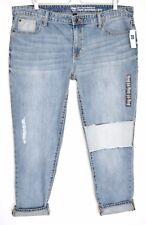 Nouveau Femme Gap Sexy Boyfriend Mid Rise Loose Crop Jeans Taille 20 R W38