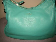 kate spade new york Green Pebbled Leather shoulder bag