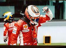 Formula 1 - KIMI RAIKKONEN & Ferrari team-mate - after French Grand Prix - 2007