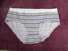 Stripe Secret Treasures Intimates Seamless Hipster Panties XL/8 Polyester Blend