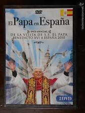 DVD EL PAPA EN ESPAÑA - BENEDICTO XVI - 2010 - 2 DISCOS - COMO NUEVA (4B)